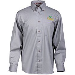 View a larger, more detailed picture of the Harriton Twill Shirt w Stain Release - Men s