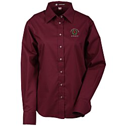 View a larger, more detailed picture of the Harriton Twill Shirt w Stain Release - Ladies 