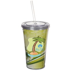 View a larger, more detailed picture of the Spirit Insert Tumbler with Straw - 16 oz