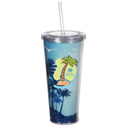 View a larger, more detailed picture of the Spirit Insert Tumbler w Straw - 20 oz