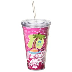 View a larger, more detailed picture of the Spirit Insert Tumbler w Straw - 24 oz