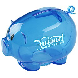 View a larger, more detailed picture of the Action Piggy Bank - Translucent