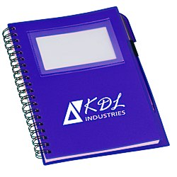 View a larger, more detailed picture of the Business Card Notebook wth Pen - Translucent - 24 hr