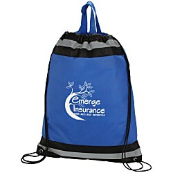 View a larger, more detailed picture of the Eagle Drawstring Backpack - 20 x 16 - 24 hr