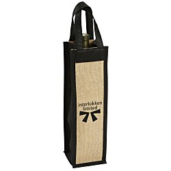 View a larger, more detailed picture of the Jute Wine Bottle Gift Tote - 24 hr