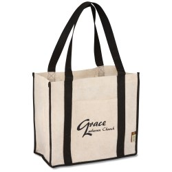 View a larger, more detailed picture of the Jute Non-woven Renew Compartment Tote - Closeout