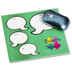 View a larger, more detailed picture of the Notepad Mouse Pad - Message Bubbles