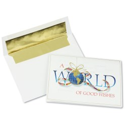 View a larger, more detailed picture of the Worldly Good Wishes Greeting Card