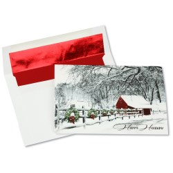 View a larger, more detailed picture of the Decorations of Red & Green Greeting Card