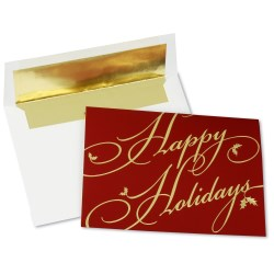 View a larger, more detailed picture of the Golden Holiday Greeting Card