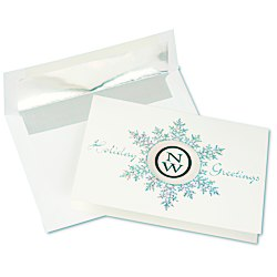 View a larger, more detailed picture of the Die-Cut Prismatic Snowflake Greeting Card