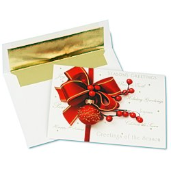 View a larger, more detailed picture of the Red Ornament Greeting Card