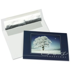 View a larger, more detailed picture of the Snow Covered Tree Greeting Card