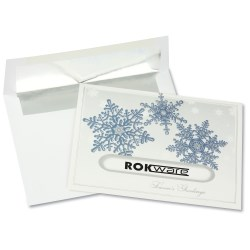 View a larger, more detailed picture of the Snowflake Die-Cut Greeting Card
