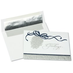 View a larger, more detailed picture of the Silver Pinecone Greeting Card