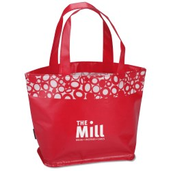 View a larger, more detailed picture of the Annabelle Laminated Tote - Overstock