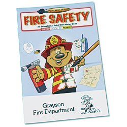 View a larger, more detailed picture of the Paint with Water Book - Fire Safety