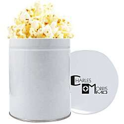 View a larger, more detailed picture of the 1 Quart Gourmet Popcorn Tin - Kettle Corn