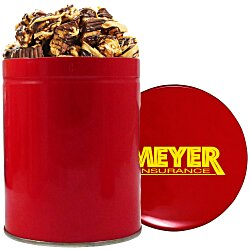 View a larger, more detailed picture of the 1 Quart Gourmet Popcorn Tin - Peanut Butter Cup