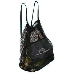View a larger, more detailed picture of the Farmer s Market Drawstring Mesh Bag