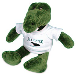 View a larger, more detailed picture of the Mascot Beanie Animal - Alligator