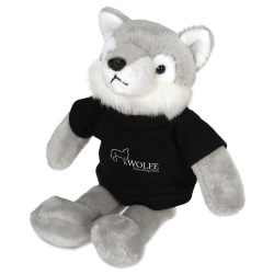 View a larger, more detailed picture of the Mascot Beanie Animal - Wolf