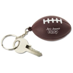 View a larger, more detailed picture of the Squishy Key Tag - Football