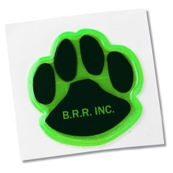 View a larger, more detailed picture of the Reflective Sticker - Paw - 1-1 4 Dia