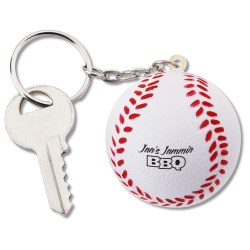 View a larger, more detailed picture of the Squishy Key Tag - Baseball