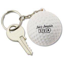 View a larger, more detailed picture of the Squishy Key Tag - Golf Ball