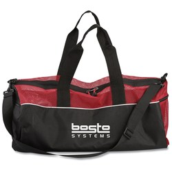 View a larger, more detailed picture of the Mesh Top Duffel Bag - Closeout