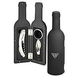 View a larger, more detailed picture of the Grigio 4-Piece Wine Set - 24 hr