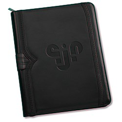 View a larger, more detailed picture of the Wingtip Zippered Padfolio - 24 hr