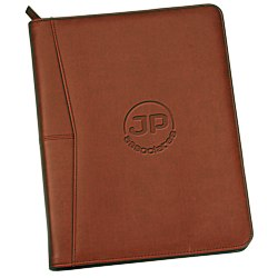 View a larger, more detailed picture of the Pedova Zippered Padfolio - 24 hr