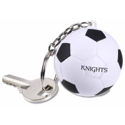 View a larger, more detailed picture of the Squishy Key Tag - Soccer Ball