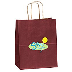 View a larger, more detailed picture of the Matte Shopping Bag 9-3 4 H x 7-3 4 - Full Color
