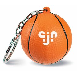 View a larger, more detailed picture of the Squishy Key Tag - Basketball