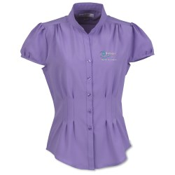 View a larger, more detailed picture of the Lilac Bloom Serena Blouse