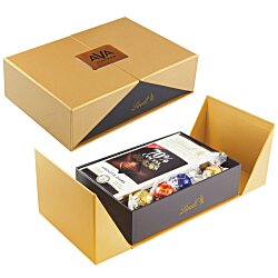 View a larger, more detailed picture of the Gift Box w Lindor Truffles and Chocolate Bar