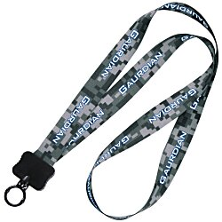 View a larger, more detailed picture of the Dye-Sublimated Lanyard - 3 4 - Digital Camo