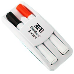View a larger, more detailed picture of the Dry Erase Markers & Eraser Set