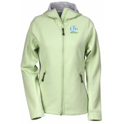 View a larger, more detailed picture of the Destination Bonded Fleece Hooded Jacket - Ladies
