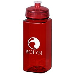 View a larger, more detailed picture of the PolySure Squared-Up Sport Bottle - 24 oz - Translucent