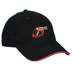 View a larger, more detailed picture of the Bayside USA Made Structured Brush Twill Sandwich Cap