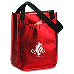 View a larger, more detailed picture of the Metallic Laminated Gift Tote