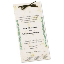 View a larger, more detailed picture of the Seeded Invitation Program - 9 x 4 - Basil