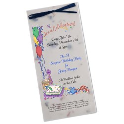 View a larger, more detailed picture of the Seeded Invitation Program - 9 x 4 - Forget Me Not