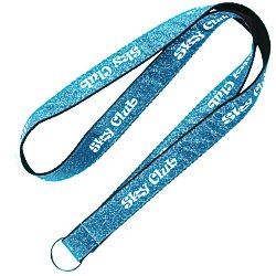 View a larger, more detailed picture of the Glitter Polyester Lanyard - 3 4
