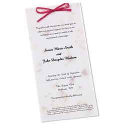 View a larger, more detailed picture of the Seeded Invitation Program - 9 x 4 - California Poppy