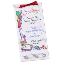 View a larger, more detailed picture of the Seeded Invitation Program - 9 x 4 - Tomato